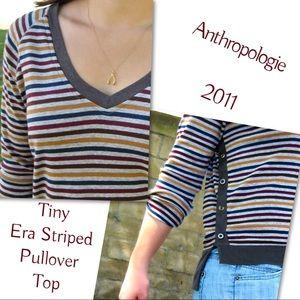 Anthropologie Tiny Era Striped Pullover Top Tee